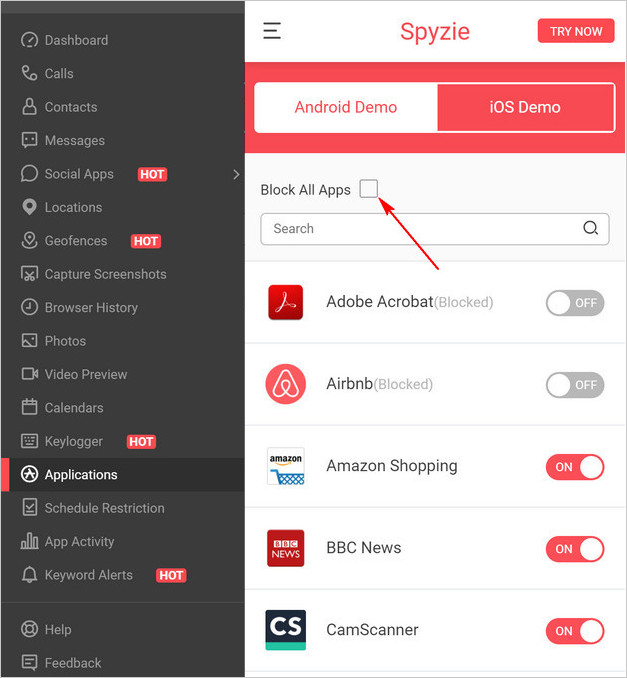 app-blocker-spyzie