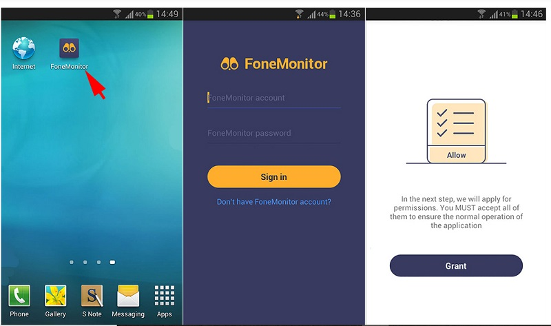 fonemonitor-android-setup