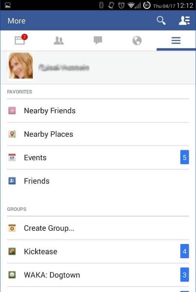 facebook-menú